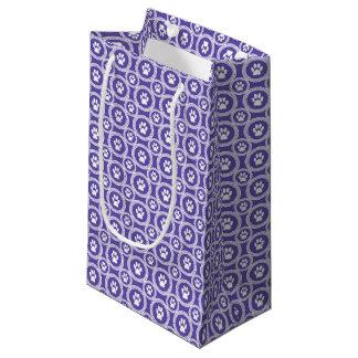 Pata-para-Dando o saco do presente (violeta) Sacola Para Presentes Pequena