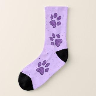 pata sparkling roxa do gato que pring - meias