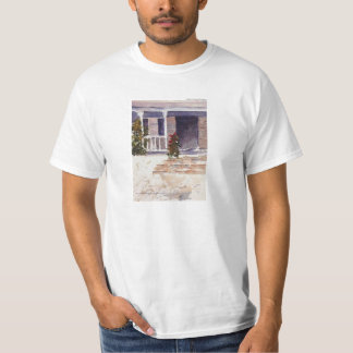Patamar branco liso do savana do t-shirt