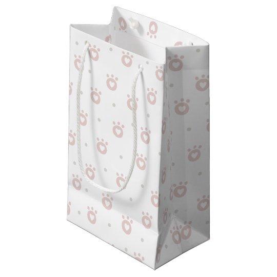 Patas bonitos do animal de estimação com o saco do sacola para presentes pequena