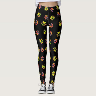 Patas coloridas leggings