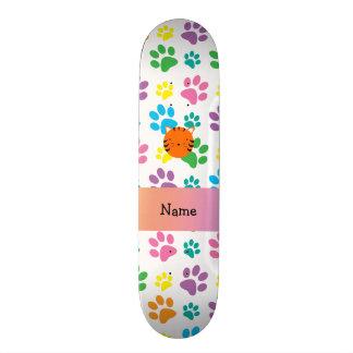 Patas conhecidas personalizadas do arco-íris da ca shape de skate 18,4cm