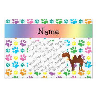 Patas conhecidas personalizadas do arco-íris do ca impressão fotográfica