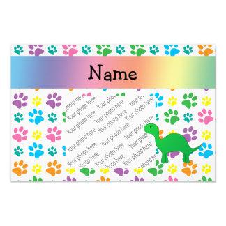 Patas conhecidas personalizadas do arco-íris do di impressão de foto