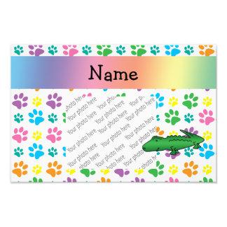 Patas conhecidas personalizadas do arco-íris do ja impressão de foto