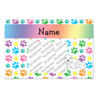 Patas conhecidas personalizadas do arco-íris do se impressão de fotos