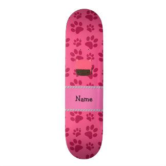 Patas conhecidas personalizadas do rosa do cupcake skate