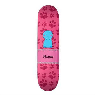 Patas conhecidas personalizadas do rosa do gato az shape de skate 21,6cm