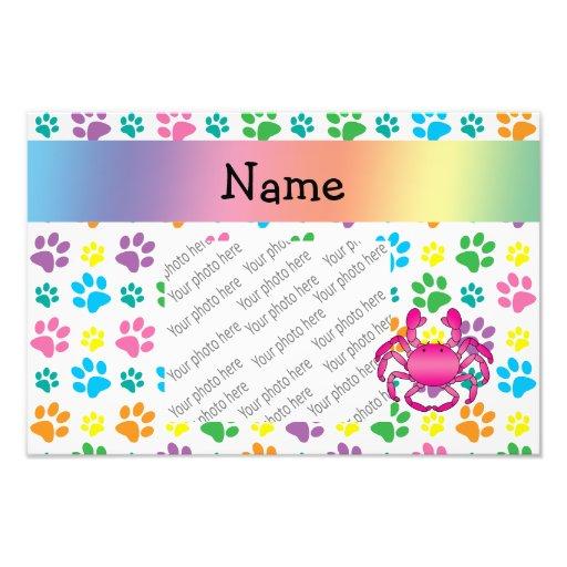 Patas cor-de-rosa conhecidas personalizadas do arc impressão fotográfica