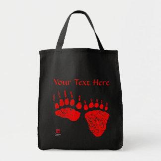 Patas de urso vermelhas - o bolsa preto do