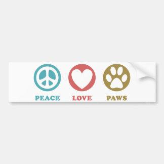 Patas do amor da paz adesivos