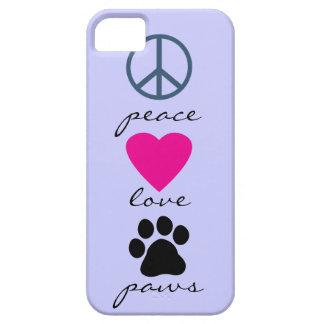 Patas do amor da paz capas para iPhone 5