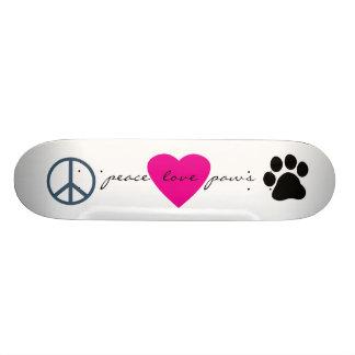 Patas do amor da paz skate boards