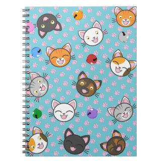 Patas do gatinho de Kawaii - caderno