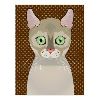 Patas dos desenhos animados do gato de Singapura Cartoes Postais