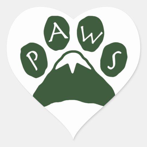 PATAS - etiqueta do coração do logotipo Adesivo Em Forma De Coração
