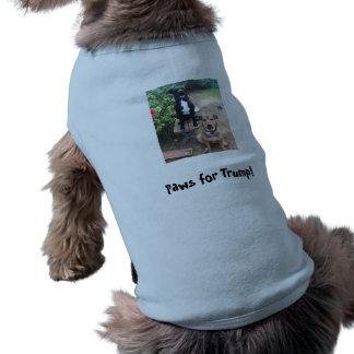 Patas para o trunfo! camisa sem mangas para cachorro
