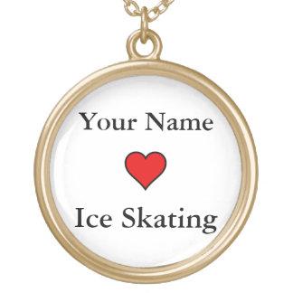 (Patinagem no gelo dos corações do seu nome) Bijuterias Personalizadas