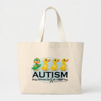 Patinho feio do autismo bolsa de lona