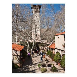Pátio & torre espanhóis cartão postal