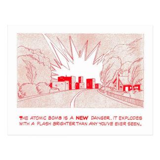 """Pato & cobrir - """"cartão de um perigo novo"""" cartoes postais"""