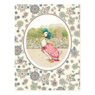 Pato de Jemima por cartão de Beatrix Potter.Easter Cartoes Postais