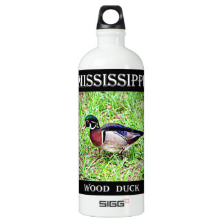Pato de madeira de Mississippi Garrafa D'água De Alumínio