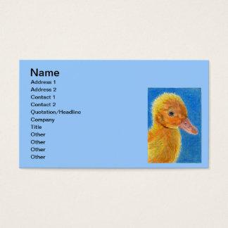 Pato do bebê cartão de visitas
