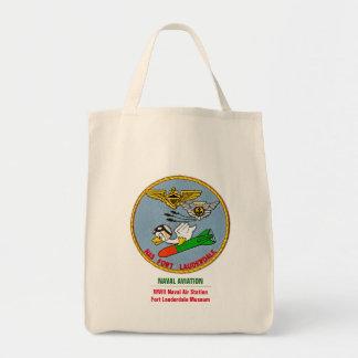 Pato do torpedo da aviação naval sacola tote de mercado