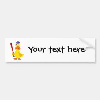 Pato engraçado que joga desenhos animados do adesivo para carro
