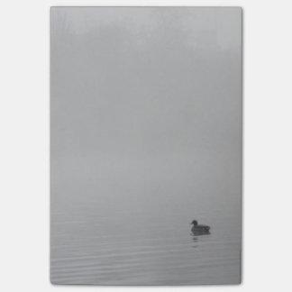 Pato na névoa bloquinho de notas