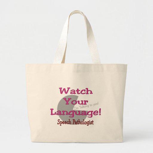 """Patologista de discurso """"relógio sua língua """" bolsas"""