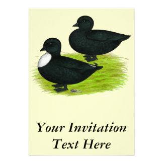 Patos Chamadas do preto Convite