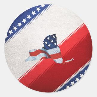 Patriota de New York do T Adesivo Redondo