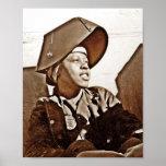 Patriotas das mulheres do afro-americano impressão