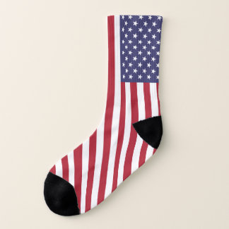 Patriótico por todo o lado em meias do impressão