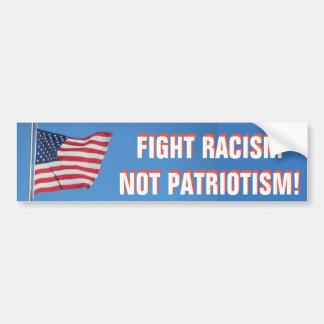Patriotismo do racismo da luta da bandeira adesivo para carro