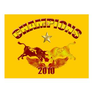 Patrocina os touros espanhóis 2010 de toro cartão postal