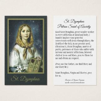 Patroness de Dymphna do santo do cartão santamente