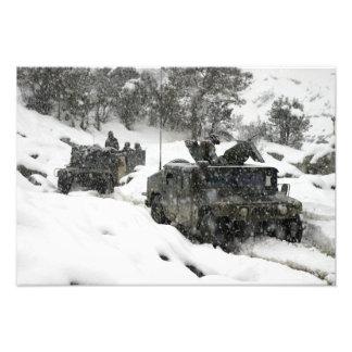 Patrulha dos fuzileiros navais dos E.U. na Impressão De Foto