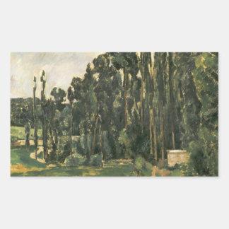 Paul Cezanne - álamos Adesivo Retangular