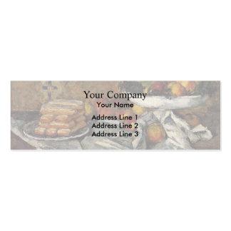Paul Cezanne- Compotier e placa dos biscoitos Cartoes De Visitas