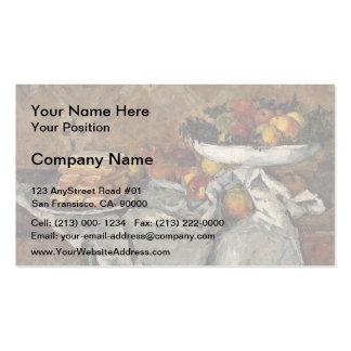 Paul Cezanne- Compotier e placa dos biscoitos Cartão De Visita