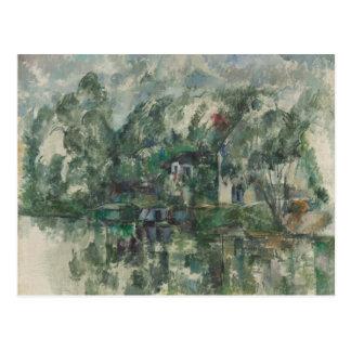 Paul Cezanne--No cartão da borda da água