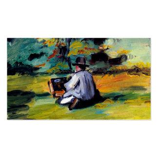 Paul Cezanne um pintor na arte do impressionista d Cartões De Visitas