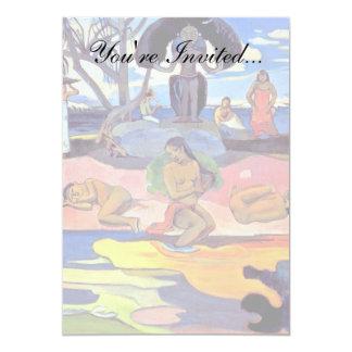 Paul Gauguin - dia dos deuses Convite 12.7 X 17.78cm