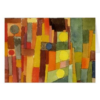 Paul Klee ao estilo de Kairouan Cartão