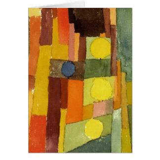 Paul Klee ao estilo de Kairouan Cartao
