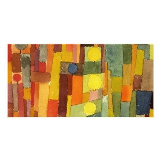 Paul Klee ao estilo de Kairouan Cartão Com Foto Personalizado
