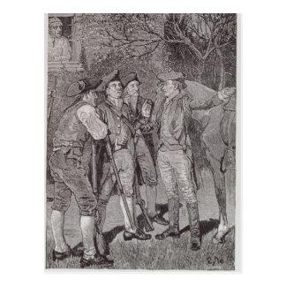 Paul Revere em Lexington Cartão Postal